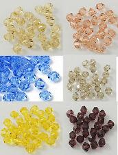 ca.360 Bicone Doppelkegel geschliffen Glaskristallperlen 4mm Crystal glass beads