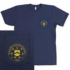 Pi Kappa Phi Fraternity Bella + Canvas POCKET Shirt Pi Kapp Seal - NEW