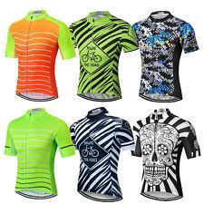 Men's Biking Jersey Shirt Short Sleeve MTB Cycle Cycling Jersey Top S-5XL