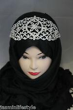 Strass Daimante Tête Pièces Hijab Ceinture Élastique Mariage Fête Costume Bijoux