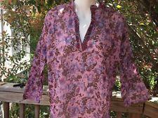 Boho Peasant Kurta Shirt_Paisley-Print Light Cotton Tunic Top_Sizes S,M,L,XL_New