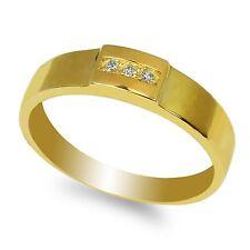 JamesJenny Ladies 10K Yellow Gold Round CZ Solid Wedding Band Ring Size 4-10
