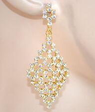 ORECCHINI donna ORO STRASS eleganti cristalli da SPOSA  da cerimonia boucles 25X