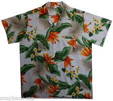 Funky Camisa Hawaiana Strelitzie Beige