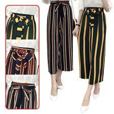 KOREAN FASHION Women's Chiffon Loose Casual Spring Summer Stripe Pants