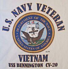 VIETNAM: USS BENNINGTON  CV-20* NAVY VETERAN W/EMBLEM* SHIRT