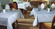 Tischwäsche Tischdecke Gastronomie, Mitteldecke mit Atlaskante weiß,Meterware