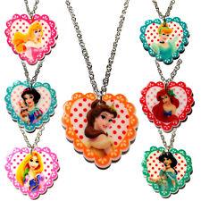 Principesse DISNEY MOLTO SIMPATICI Carini Kitsch Girls Collana Ciondolo Regalo di compleanno
