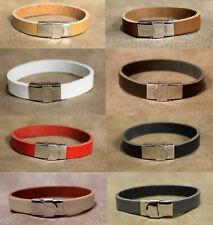 Lederarmband Echt Leder Armband mit Edelstahl Verschluss für Damen & Herren