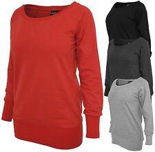 URBAN CLASSICS LADIES WIDENECK CREWNECK  Sweater Damen Pullover Long Shirt TB607