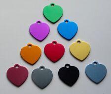 Médaille COEUR gravée gd modele pour animaux chien  - 10 couleurs -