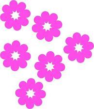 Pink Daisy Flower Car,Camper Van Window Sticker x6