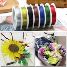 10meter/ Roll Iron Wire Rope Beads Flower Metal Dried Flowers Wreaths Packaging