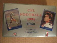 JOGO 1991 CFL FOOTBALL CARD SET - 220 CARD SET IN ORIGINAL SHRINKWRAPPED BOX