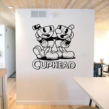 Vinyl Wall Decal. Sticker. Wall. Bedroom. Cuphead - Cuphead and Mugman