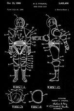 1968 - Hard Space Suit - H. C. Vykukal - Patent Art Poster