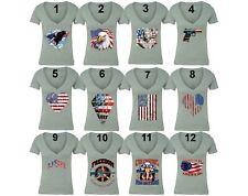 American Flag distressed 4th of July T-shirt Clothing USA Pride Shirt Gray