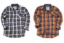 RVLT REVOLUTION Kirk Shirt Uomo Camicia Manica Lunga dayshirt Marrone A Quadri Camicie