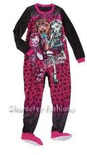 MONSTER HIGH Size 4 5 6 6X 10 12 GIRLS Footed Pajamas pjs BLANKET SLEEPER