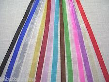 5 ou 10 mètres de RUBAN ORGANZA * 6 mm * Coloris au choix - Bijoux Dragée Fêtes