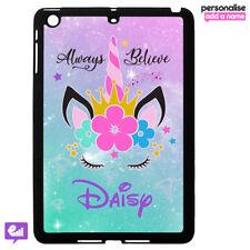 Personalised UNICORN Hard Case Cover for iPad AIR / MINI Fantasy Kids Gift Girl