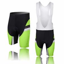 Green Cycling Shorts / Bib Shorts Men's Gel Padded Bike Bicycle Shorts Knickers
