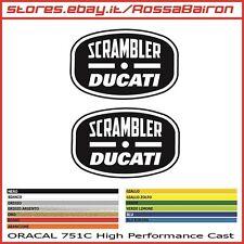KIT 2 ADESIVI DUCATI SCRAMBLER ITALIA INDIPENDENT 1 mm.100x65 STICKERS PEGATINAS