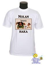 tee shirt enfant vaiana haka personnalisable au choix  réf 154