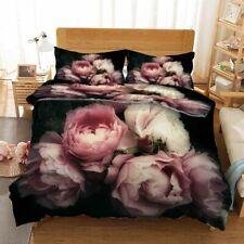 Pink White Petals 3D Printing Duvet Quilt Doona Covers Pillow Case Bedding Sets