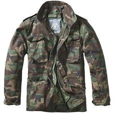 Brandit M65 Standard Jacket Mens Tactical Combat Parka Classic Coat Woodland