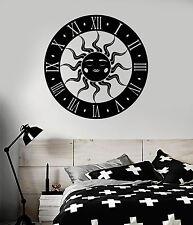 Vinyl Wall Decal Sun Clock Bedroom Art Decoration Stickers Mural (ig4931)