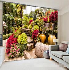 3D Farben Garten 46 Blockade Foto Vorhang Druckvorhang Vorhänge Stoff Fenster DE