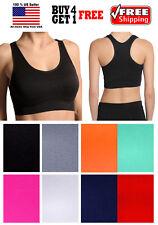 Women Sports Bra Fitness Yoga Crop Tank top Stretch Razorback Spandex Bandeau