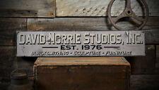 Custom Blacksmith Est Date Studio Sign - Rustic Hand Made Wooden ENS1000781