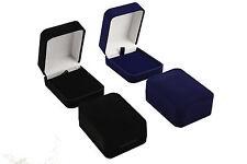 Luxury Faux VELVET CIONDOLO / DROP Box Gioielli Display Storage CATENA SCATOLA REGALO