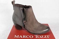 Marco Tozzi Botines, botas, Barro / gris, cremallera 25060 NUEVO