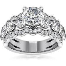 2.40 Ct Round Cut Diamond Engagement Ring 14k White Gold