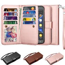 Samsung Galaxy J3 Luna Pro / J3 Prime Leather Wallet Credit Card Flip Case Cover
