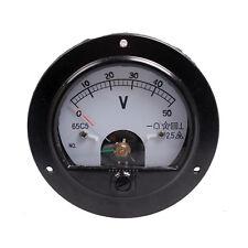 1pc DC AC 65C5(62T2) Round Analog Volt Panel Meter 20V 30V 50V 150V 250V 450V