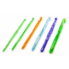 Häkelnadel einzeln o. Set Gr. 5,0 - 10,0 Plastik Gr. 5 6 7 8 9 10 Häkelnadeln