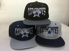 Dallas Cowboys Writing Snap Back Cap Hat DAL Embroidered Adjustable Flat  Bill 6f41fe1e7
