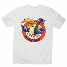 Tucan drinking beer - men's funny premium t-shirt