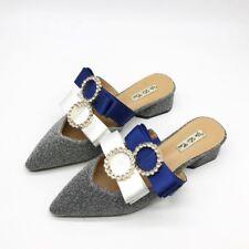 zapatillas elegantes zuecos azul plata estrellas suela cómodo como piel 9852