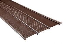 100 Kunststoffpaneele Dachkasten Verkleidung Unterdach Blende Soffit braun