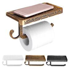 Bathroom Toilet Paper Storage Holder Cellphone Holder Aluminum Roll Holder b