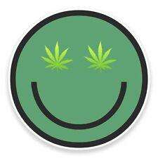 2 x Cannabis Vinyl Sticker Car Travel Luggage #9600