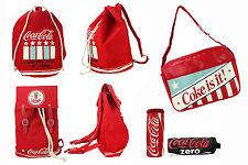 orig. Coca Cola COKE Americana Rucksack Tasche Matchsack Schlamperrolle Beutel