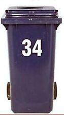 2 Número para contenedor con ruedas grande autoadhesivo