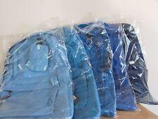 "Air Express 17"" Blue Backpack Day Back Pack Adjustable Straps School Zipper"