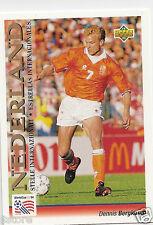 Rare UD WC '94 of International forward Nederland's Dennis Bergkamp Trading Card